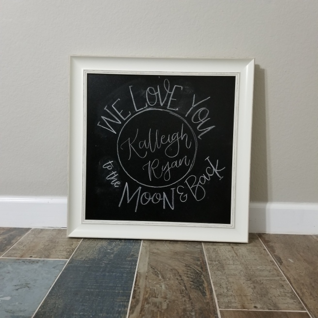chalk sketch of nursery chalkboard