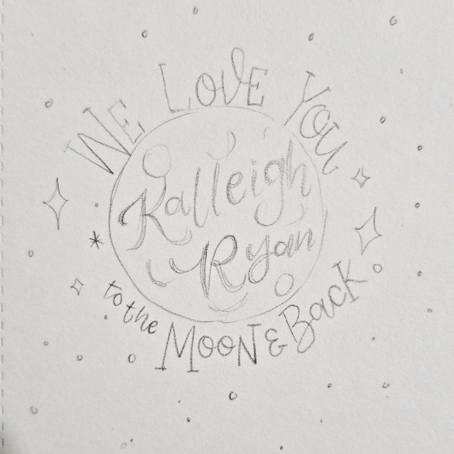 we love you to the moon and back sketch by @nerdladydraws swapna gardner