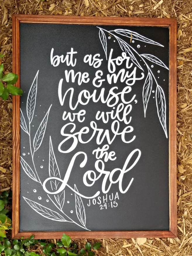 as for me and my house chalkboard